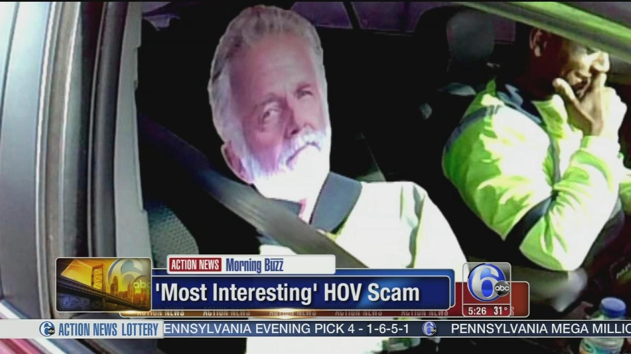 VIDEO: Most interesting man in the world in HOV scam
