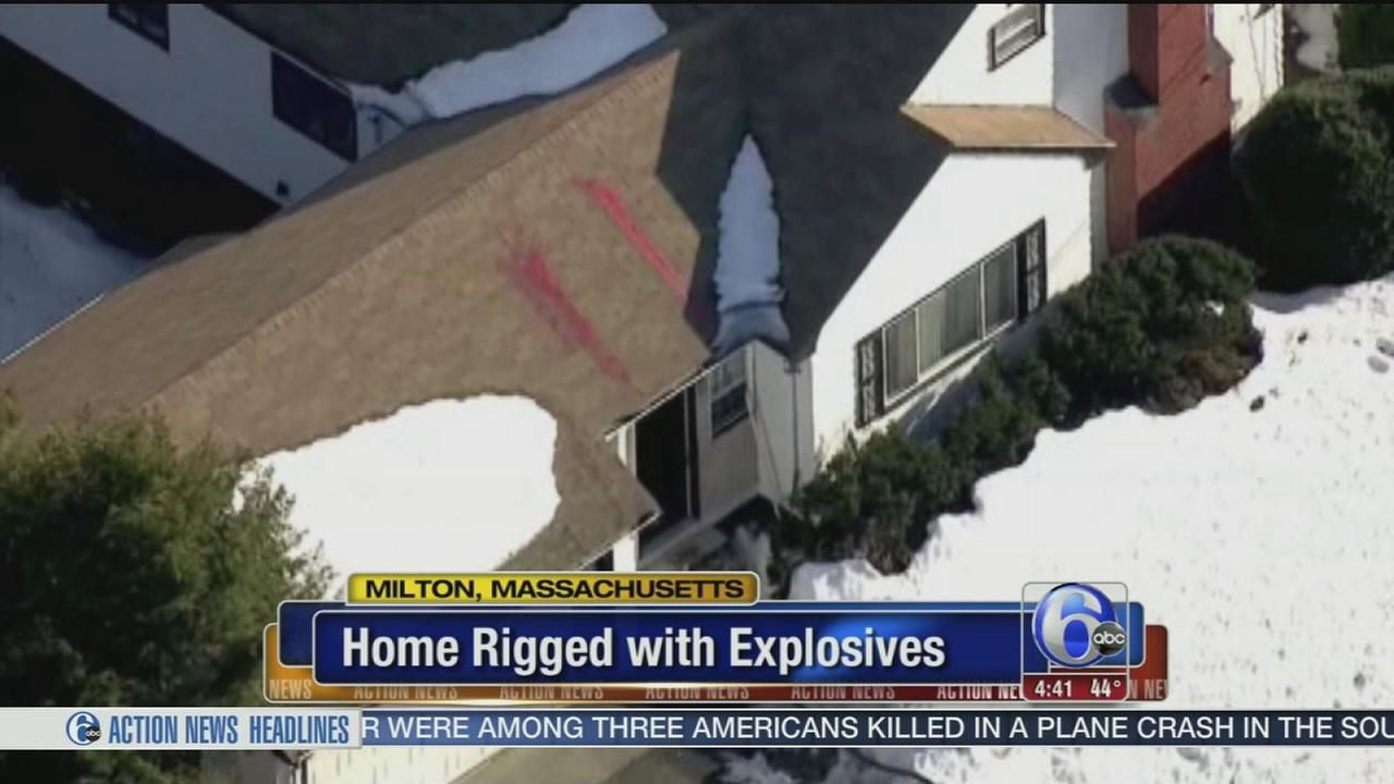 VIDEO: Home rigged with explosives