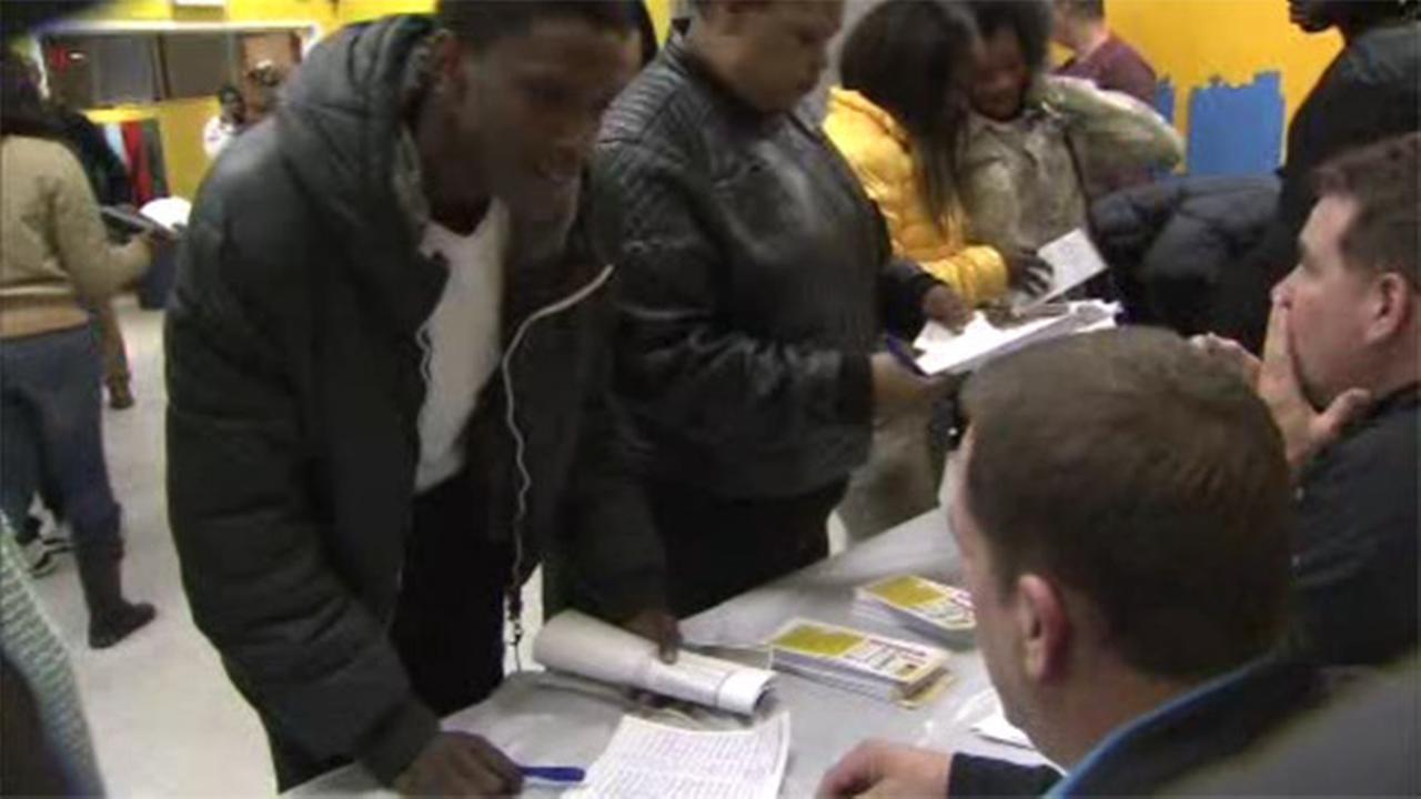 hundreds of teens line up for job fair in west philly com
