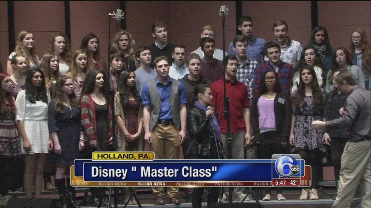 VIDEO: Disney Master Class at Council Rock South