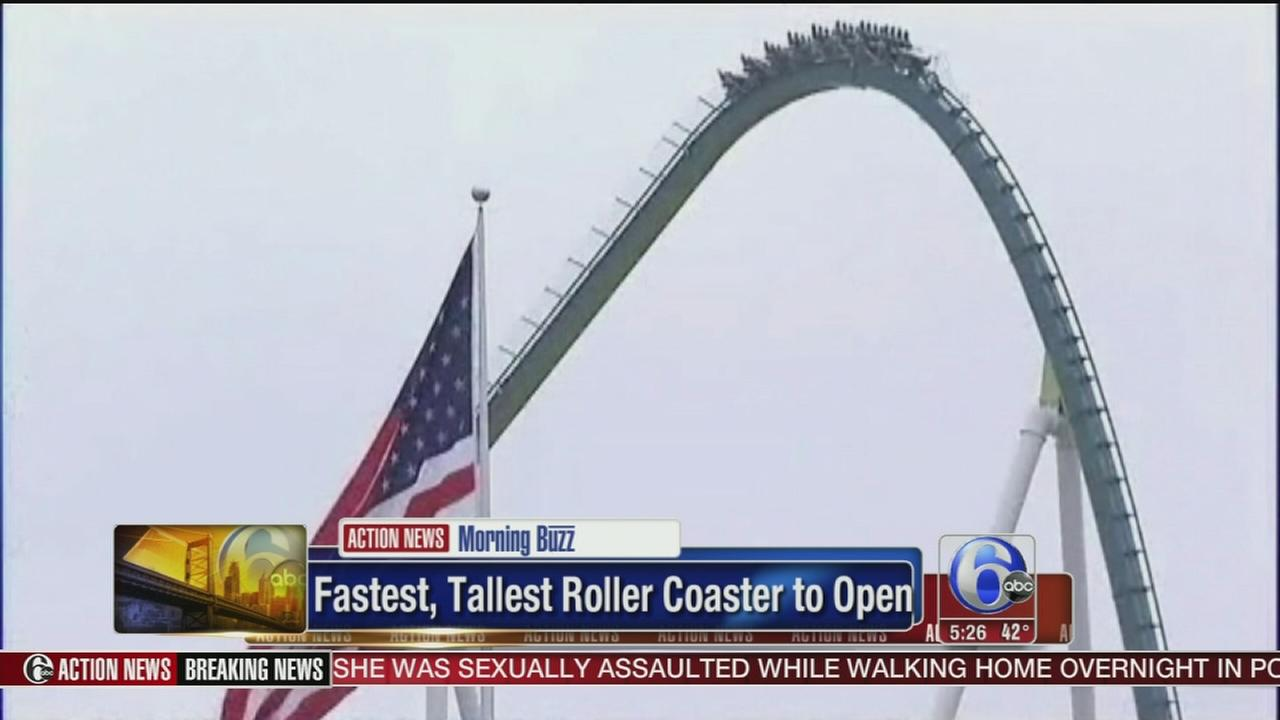 VIDEO: Fastest, tallest roller coaster to open in NC