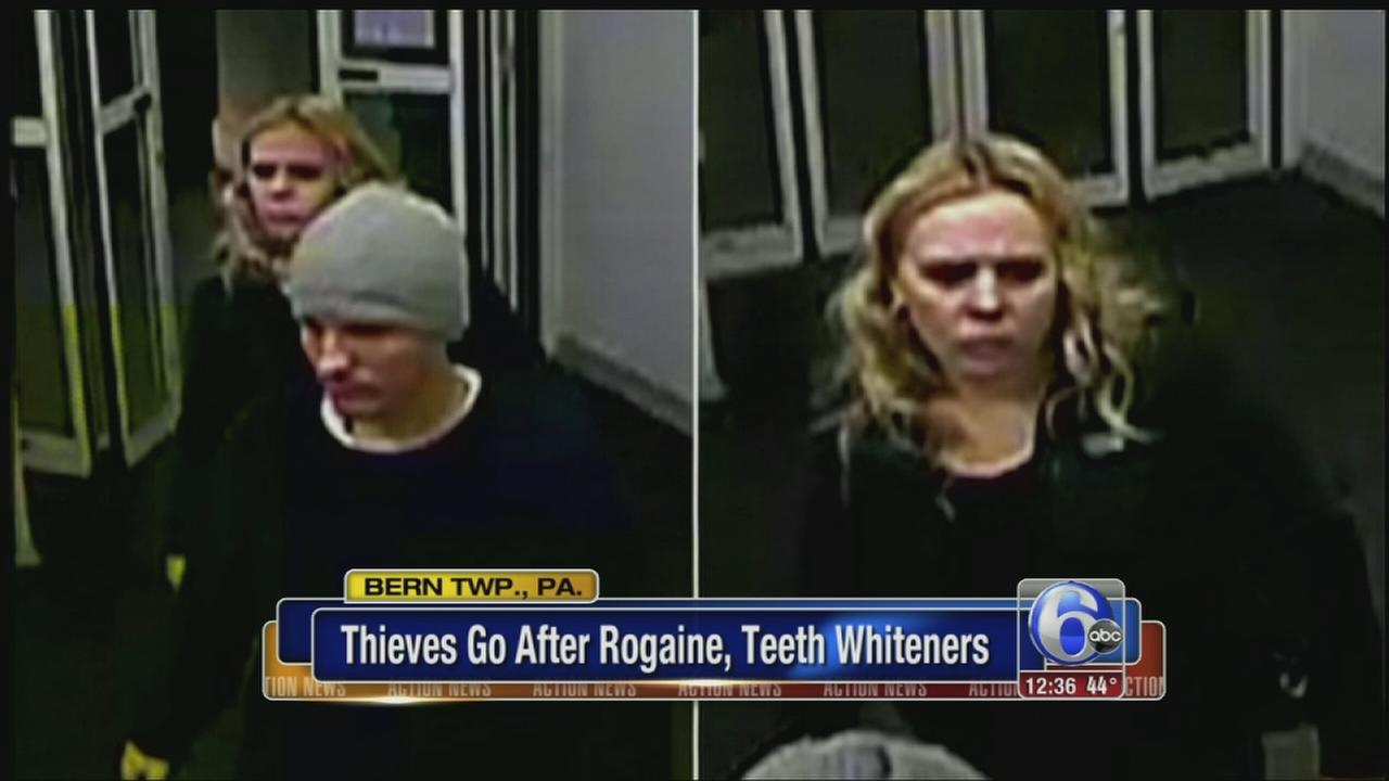 VIDEO: Pair sought for string of CVS robberies