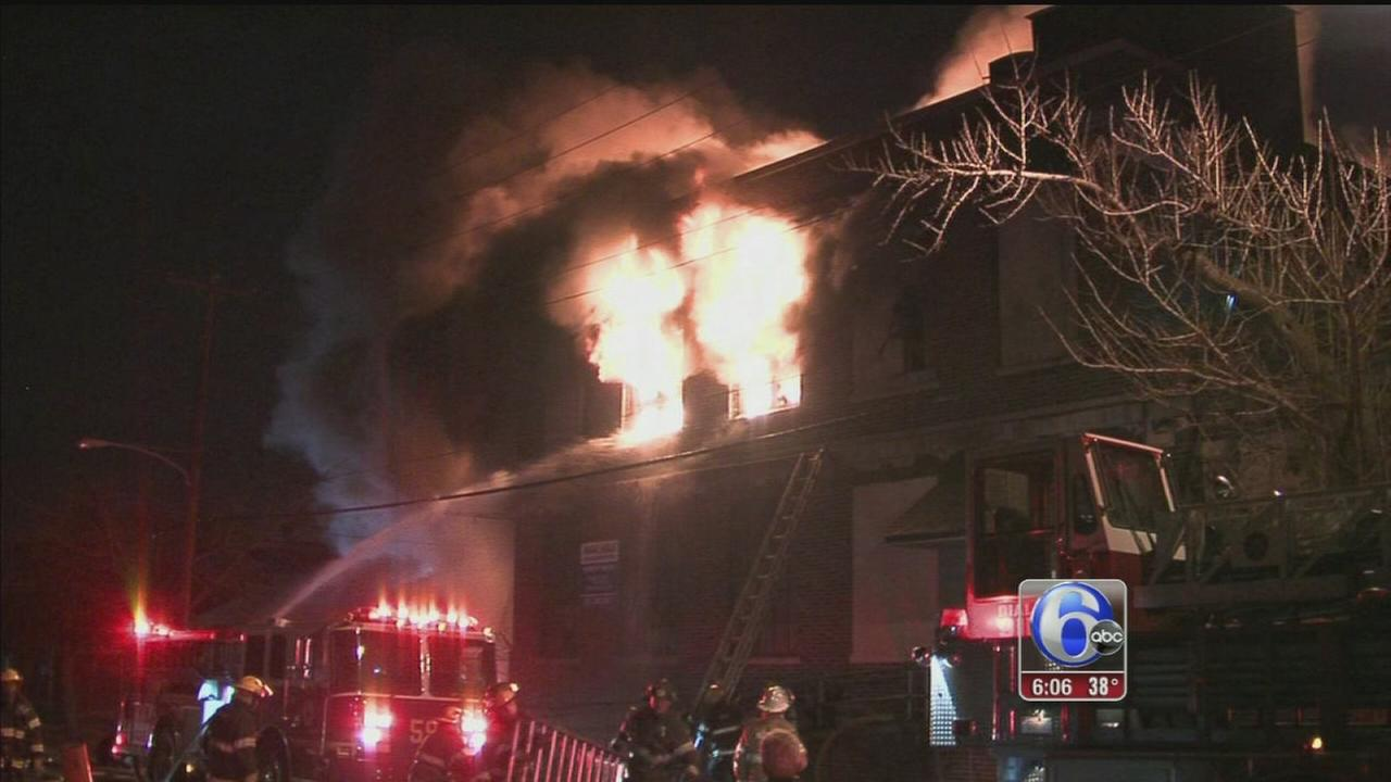 VIDEO: 4-alarm blaze destroys warehouse in North Phila.