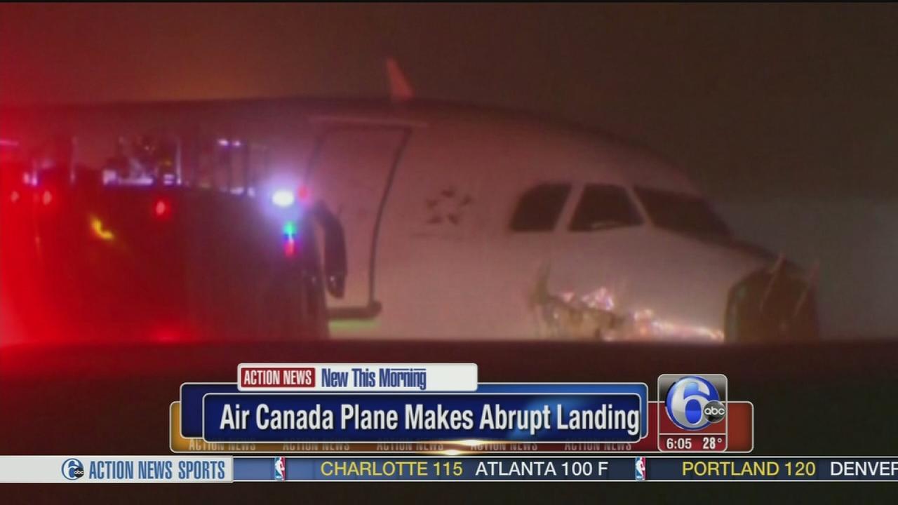 VIDEO: Abrupt landing