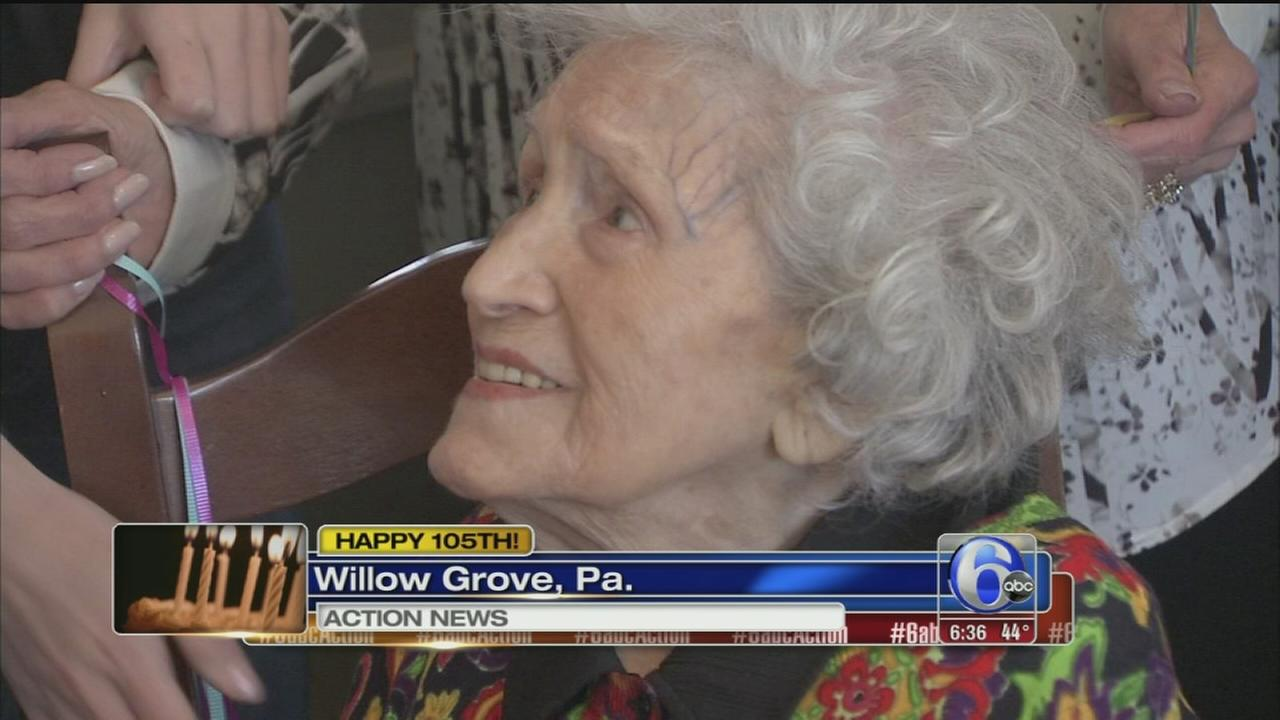 VIDEO: Local woman celebrates 105th birthday!