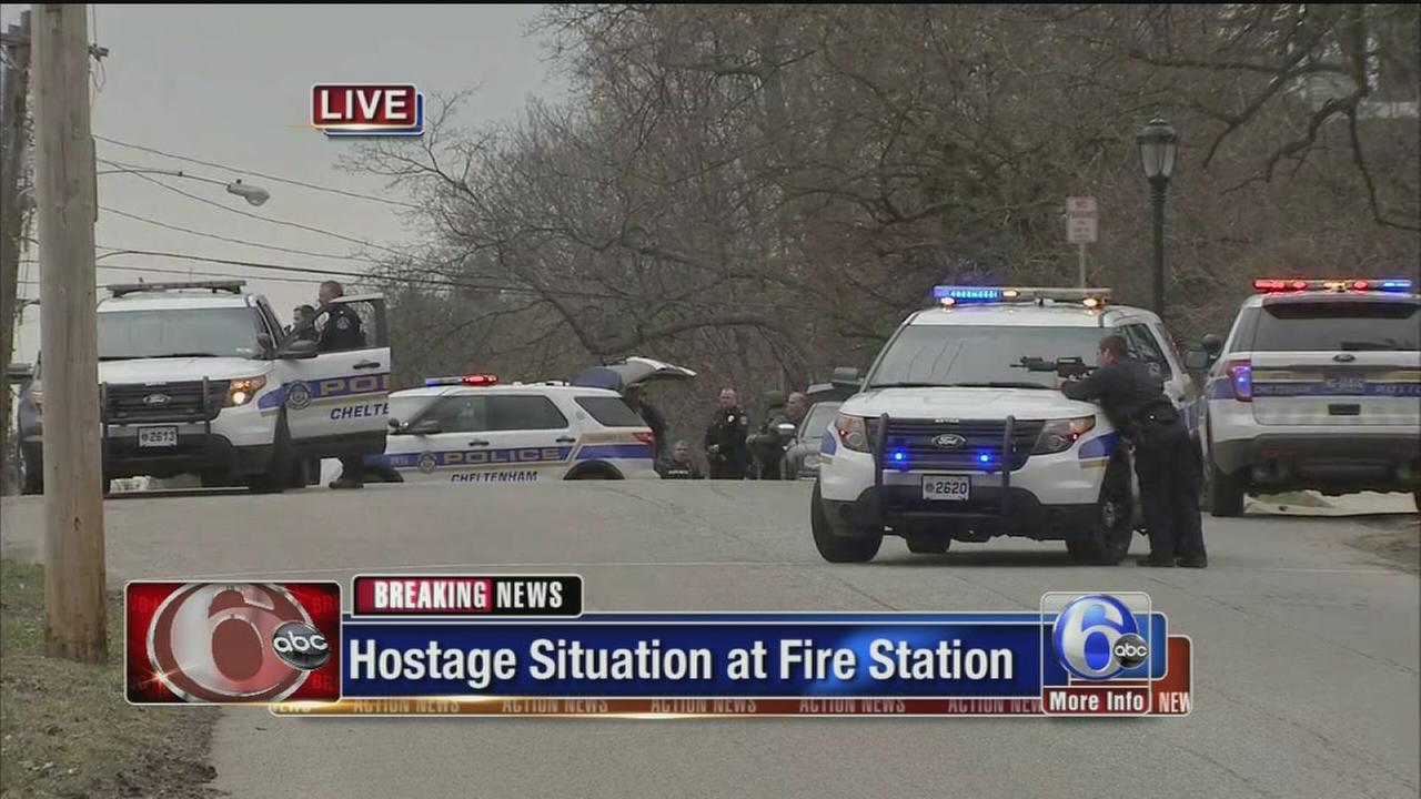 VIDEO: On-air coverage of firehouse standoff