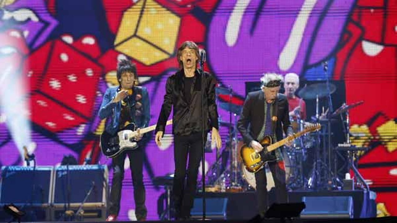 The Rolling Stones perform during their concert at Tokyo Dome in Tokyo, Wednesday, Feb. 26, 2014. (AP Photo/Shizuo Kambayashi)