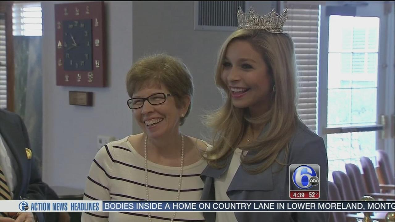 VIDEO: Miss America visits nursing home at Jersey shore