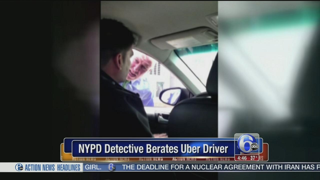 VIDEO: NYPD Detective caught berating Uber driver