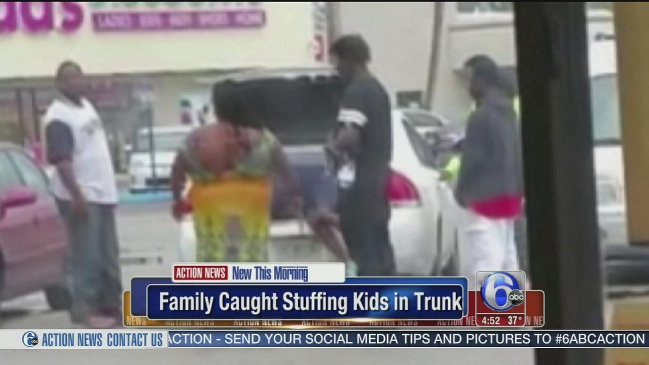 VIDEO: Family caught stuffing kids in trunk