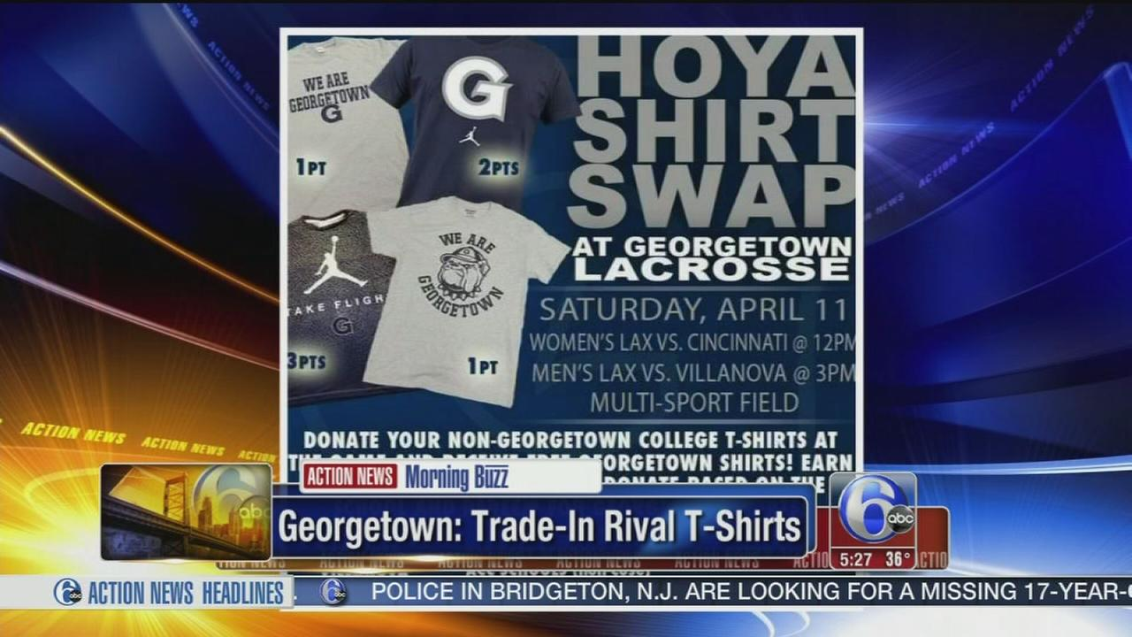 VIDEO:Georgetown: Trade in rival t-shirts for a Hoyas shirt