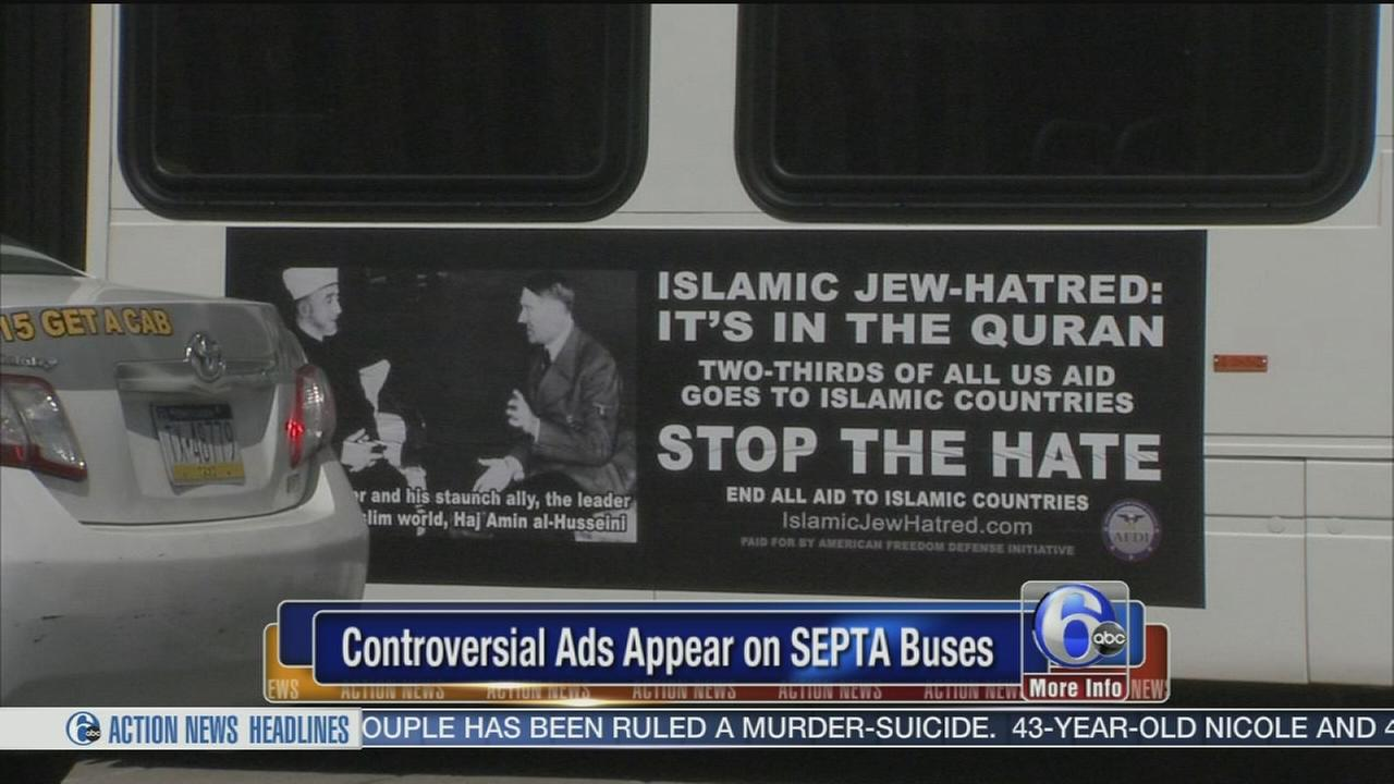 VIDEO: COntroversial ads appear on SEPTA buses