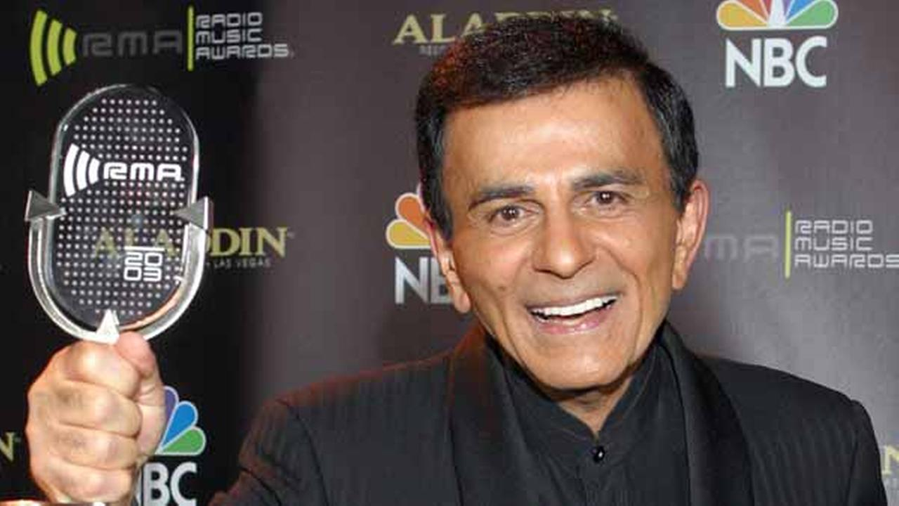 FILE - In this Oct. 27, 2003 file photo, Casey Kasem poses for photographers after receiving the Radio Icon award during The 2003 Radio Music Awards in Las Vegas.