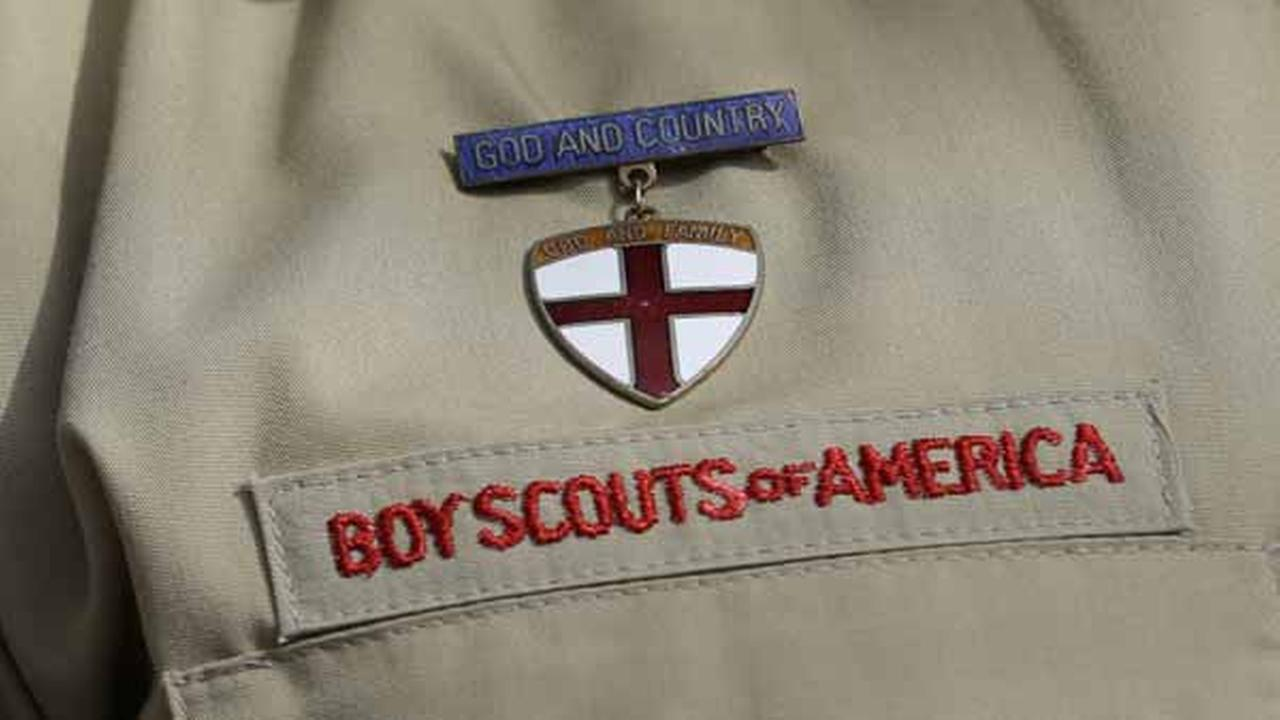 File - In this Feb. 4, 2013 file photo, shows a close up detail of a Boy Scout uniform.