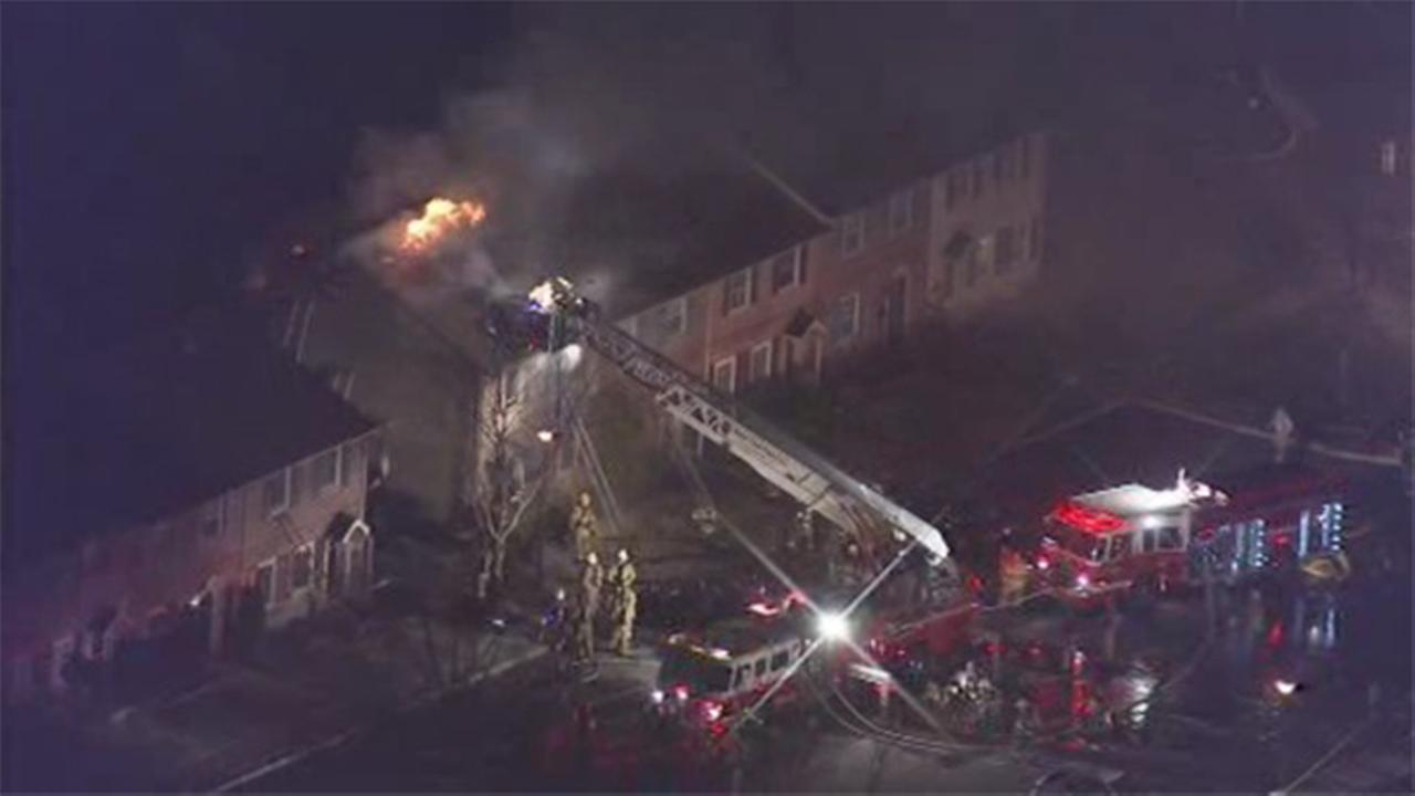 Fast-moving townhouse fire in Quakertown