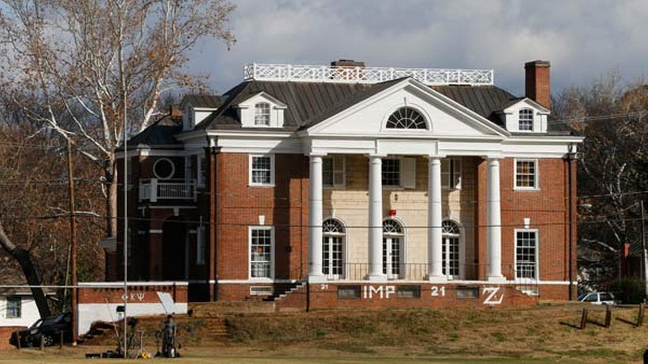 The Phi Kappa Psi fraternity house at the University of Virginia in Charlottesville, Va., Monday, Nov. 24, 2014.