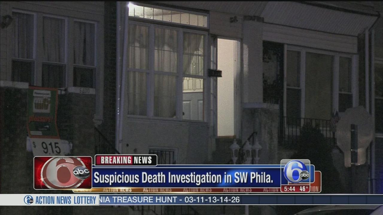 VIDEO: Woman found dead in SW Phila. home