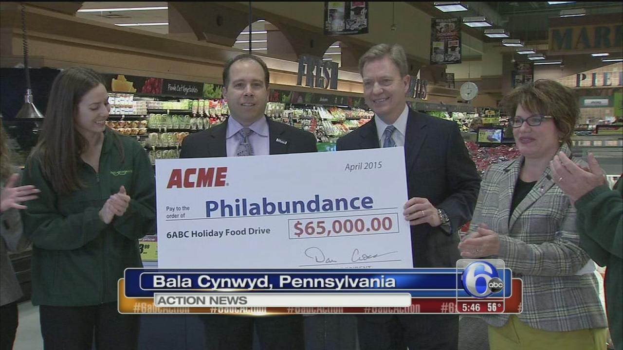 VIDEO: Acme donates $65K to Philabundance