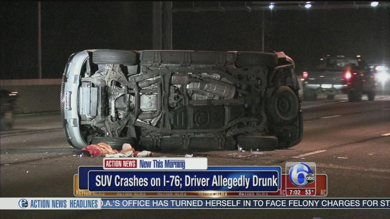 VIDEO: Police: Driver facing DUI charge after crash on I-76