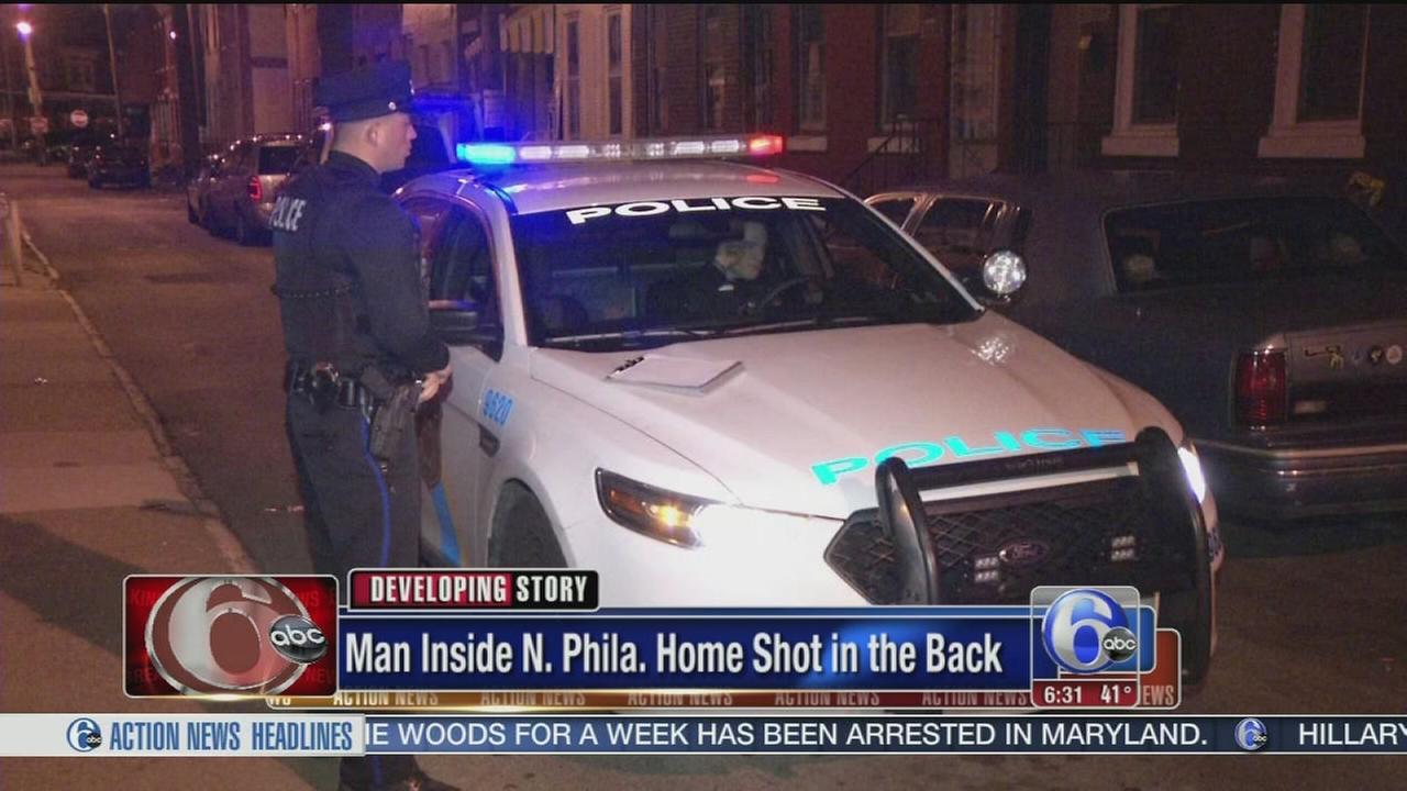 VIDEO: Man shot inside N. Philadelphia home