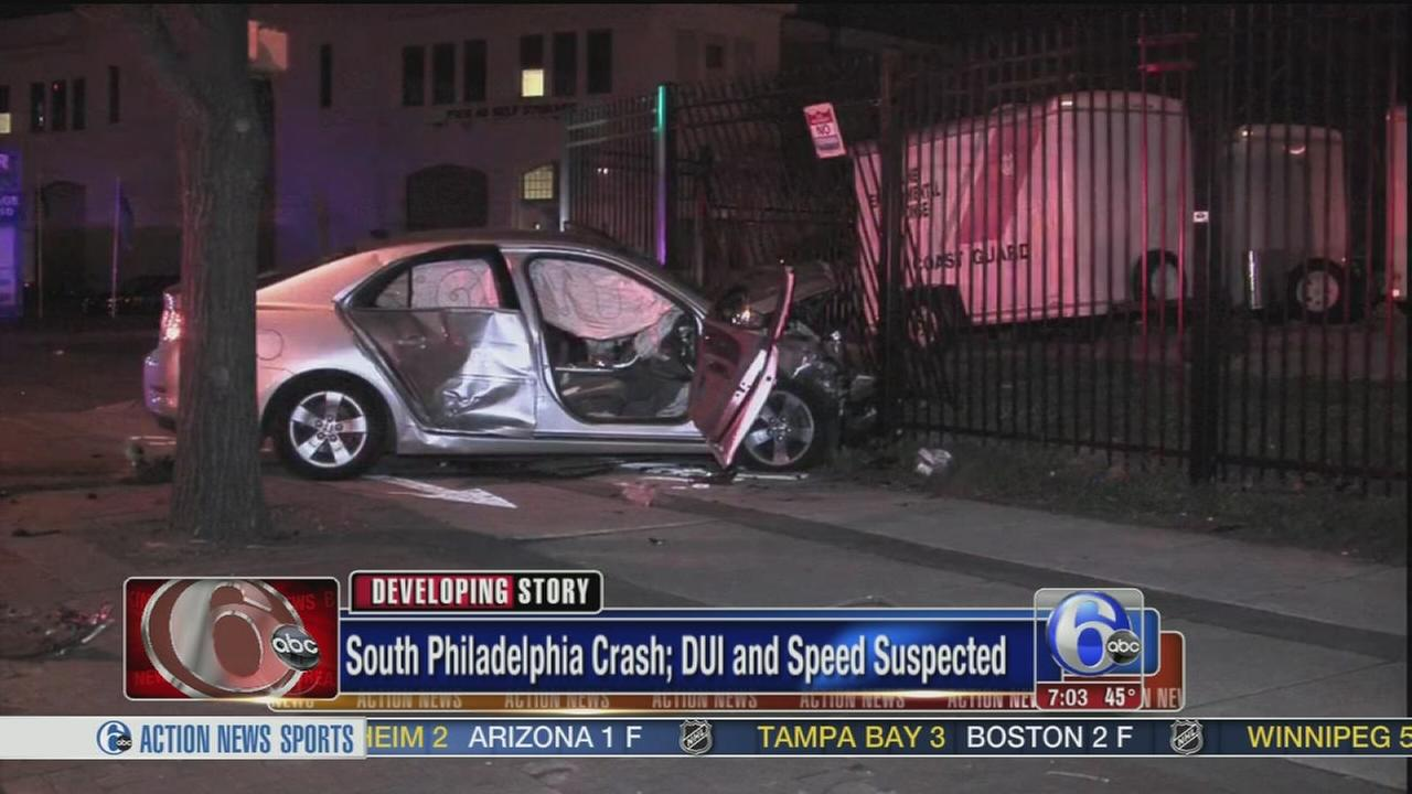 VIDEO: DUI crash in South Philadelphia