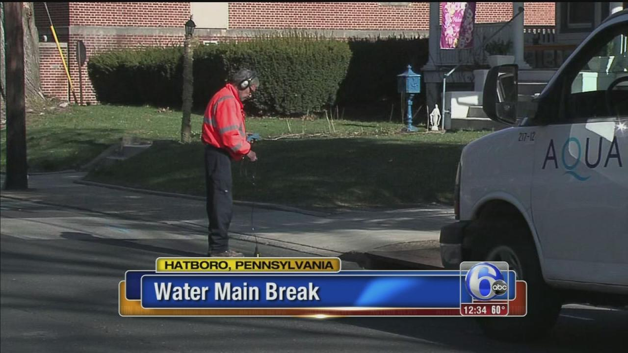 VIDEO: Water main break in Montgomery County