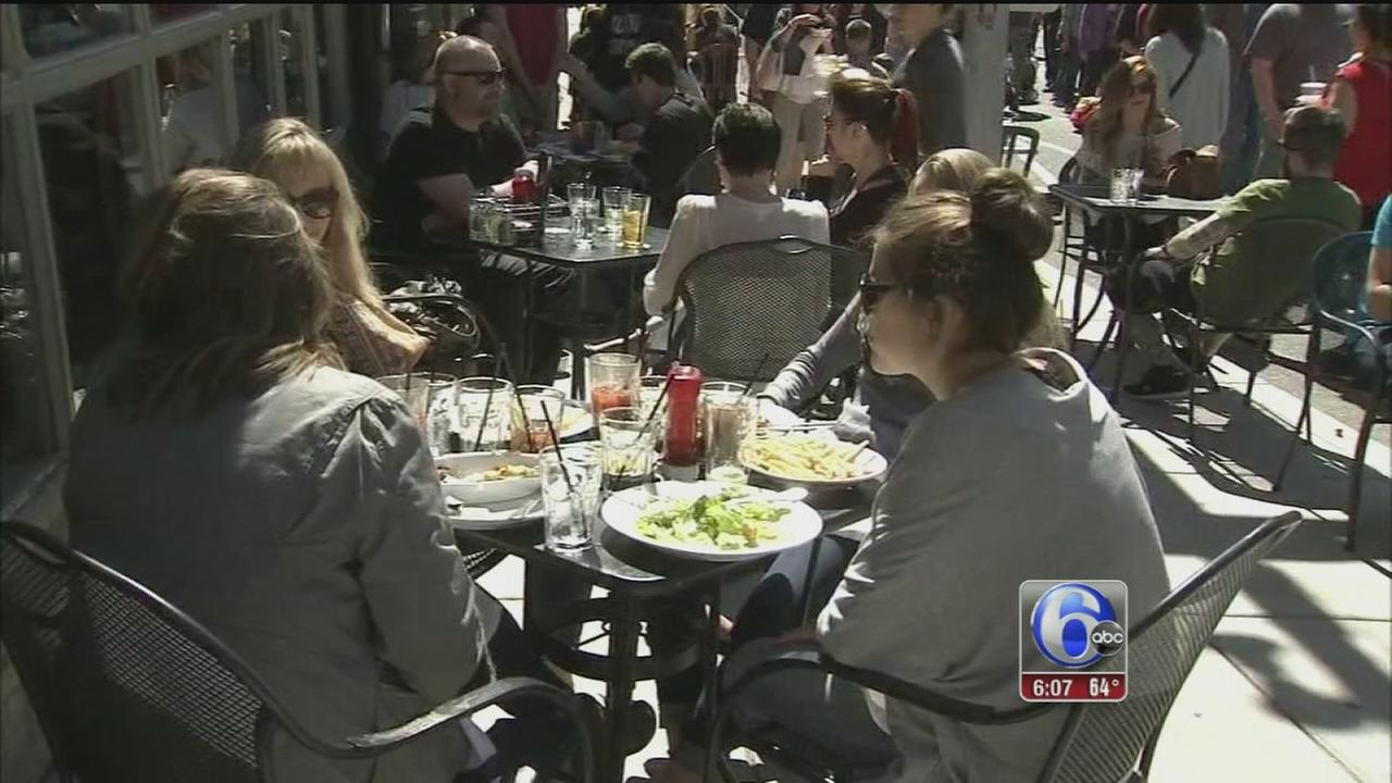 VIDEO: Soaking up the nice weather in Philly