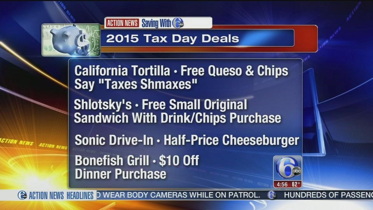 VIDEO: Tax Day deals