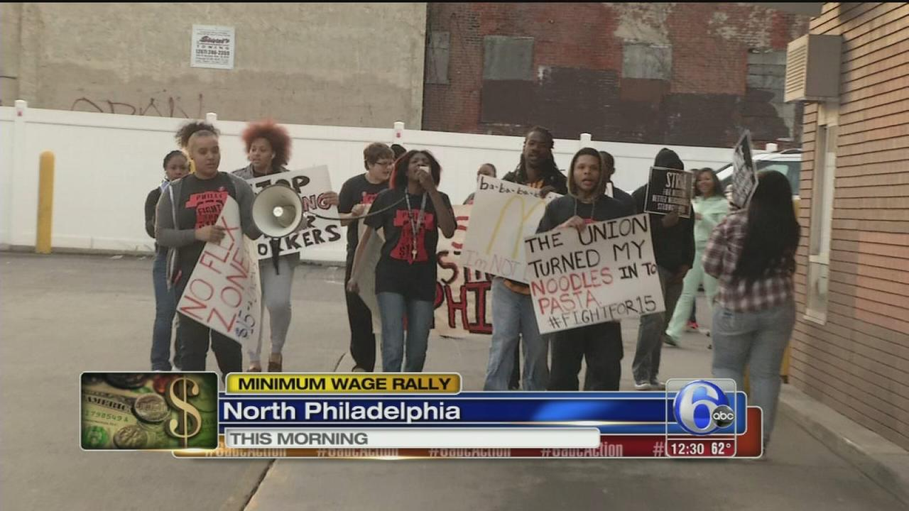 VIDEO: Protestors rally for $15 an hour