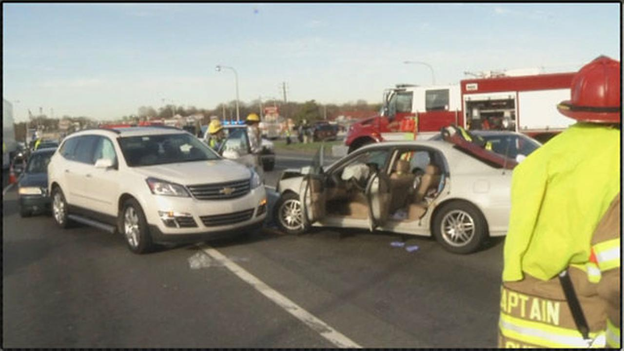 PHOTOS: Multi-vehicle crash in New Castle