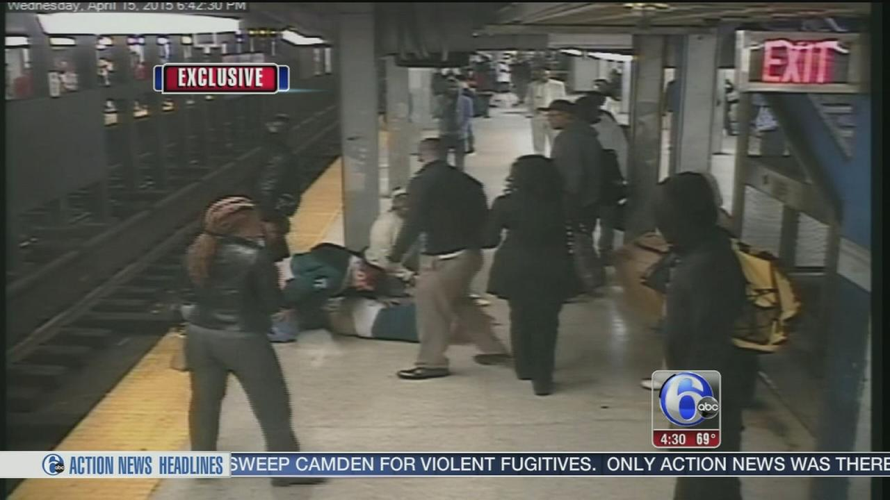 VIDEO: Hero saves man after fall on SEPTA tracks