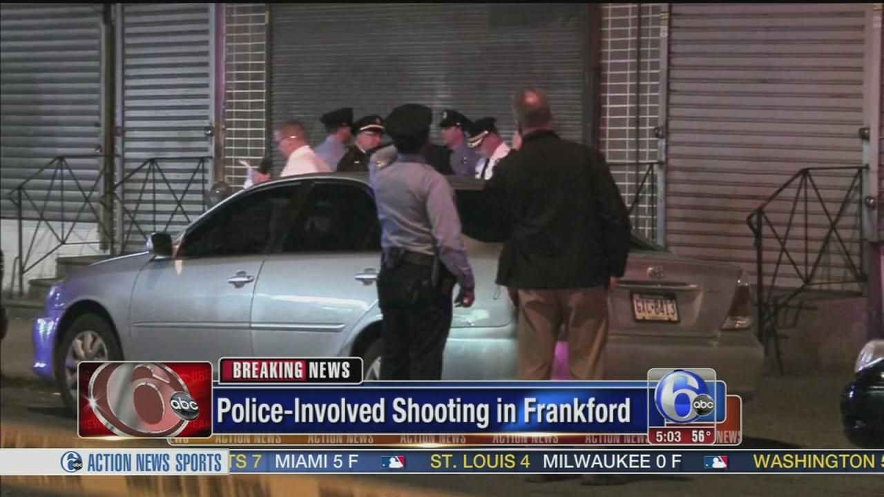 VIDEO: Suspect shot and wounded by police in Frankford
