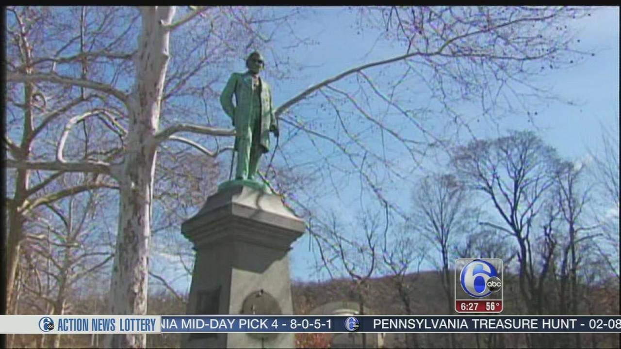 VIDEO: Monument plaques stolen in Reading