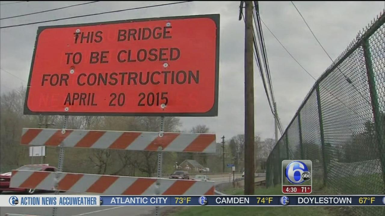 VIDEO: Busy Chester County bridge to close until 2016