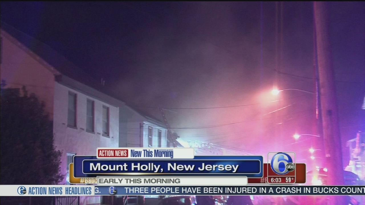 VIDEO: Fire in Mount Holly, NJ