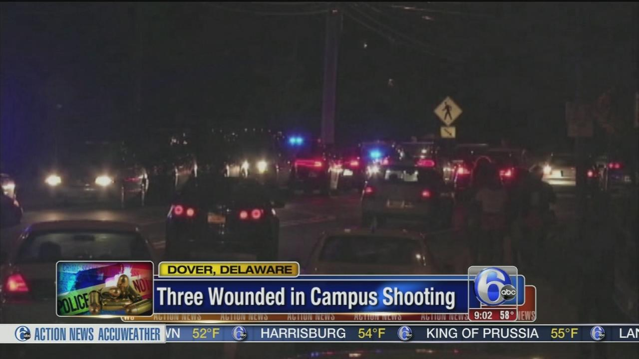 VIDEO: 3 wounded in campus shooting