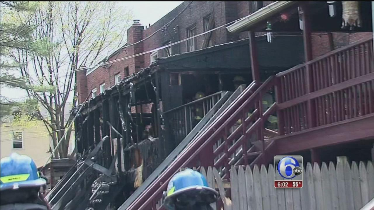 VIDEO: 5 families displaced in 3-alarm Norristown fire