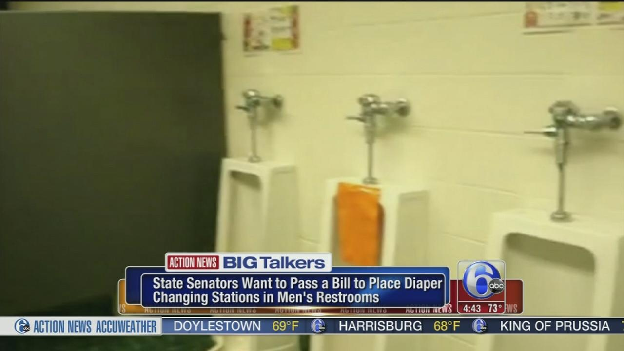 VIDEO: Daddy diaper stations