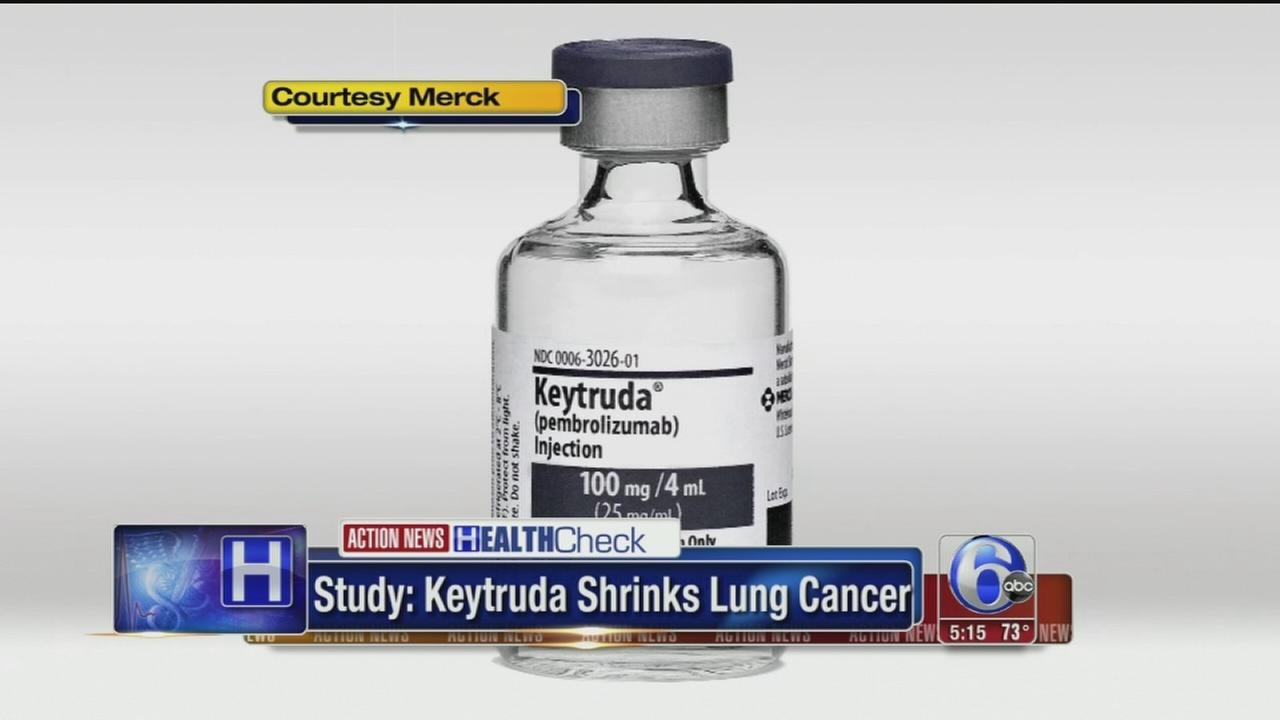 VIDEO: Study says drug shrinks lung cancer