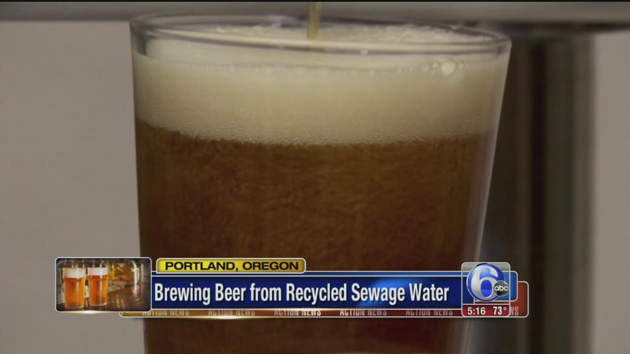 VIDEO: Brewing beer from recycled sewage water