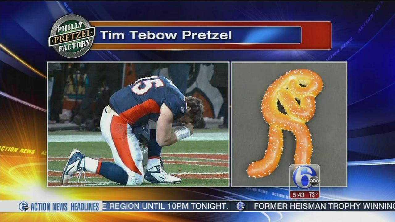 VIDEO: Pretzel celebrates Tebows arrival