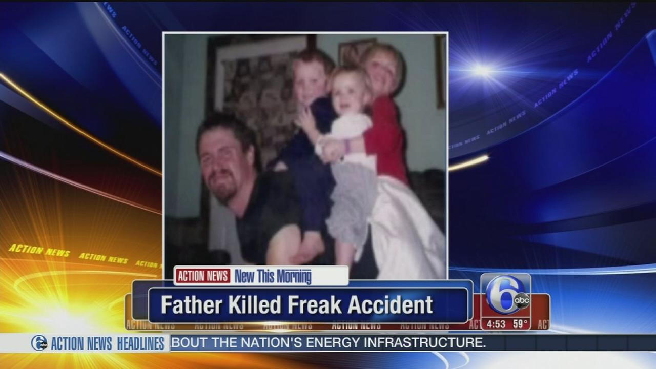 VIDEO: Father of 8 killed in freak accident