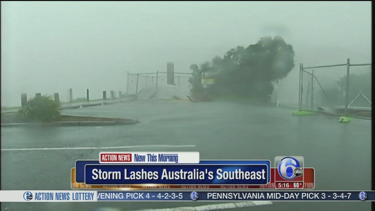 VIDEO: Fierce storm lashes Australias Southeast