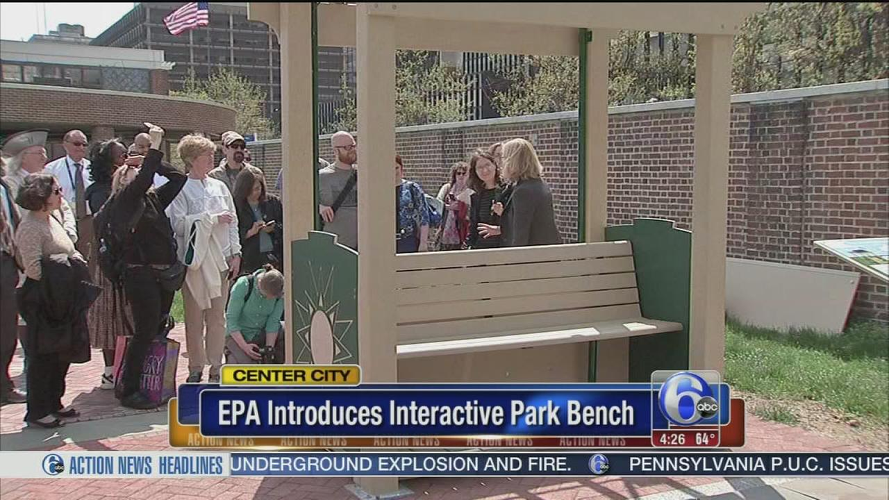 VIDEO: EPA introduces interactive park bench