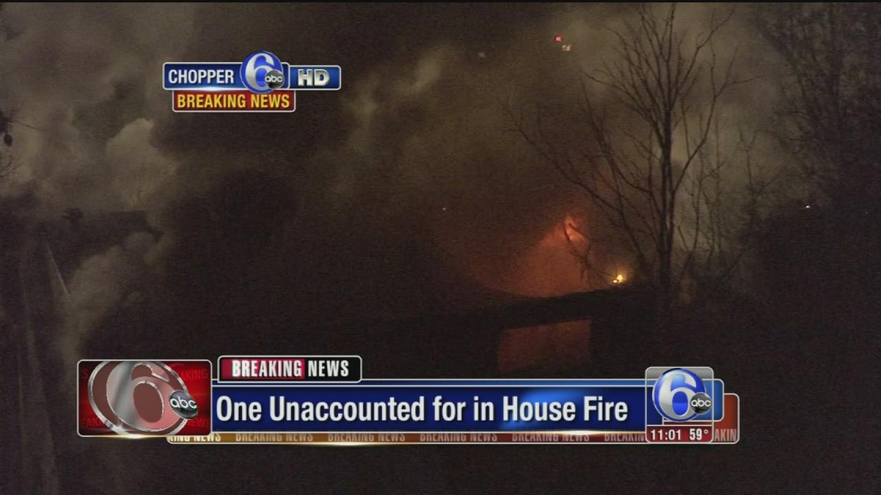 VIDEO: 1 unaccounted for after fire