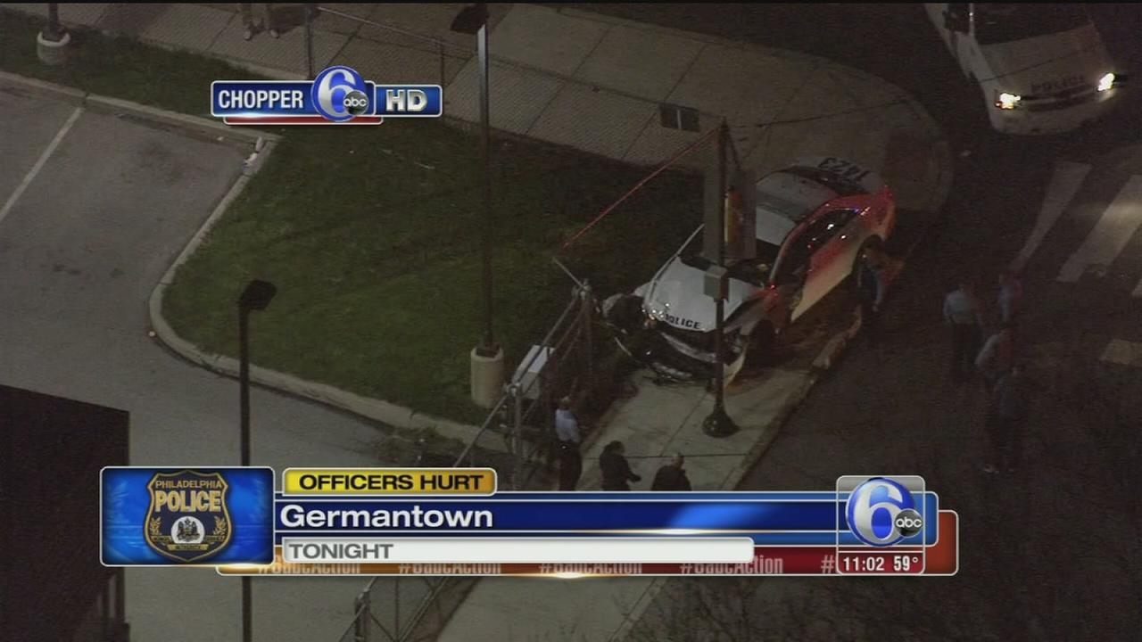VIDEO: Officers hurt in Germantown