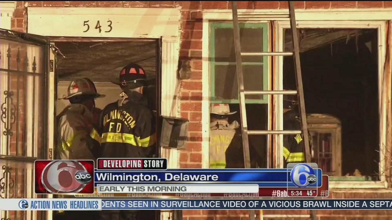VIDEO: Firefighter, resident injured in house fire in Wilmington