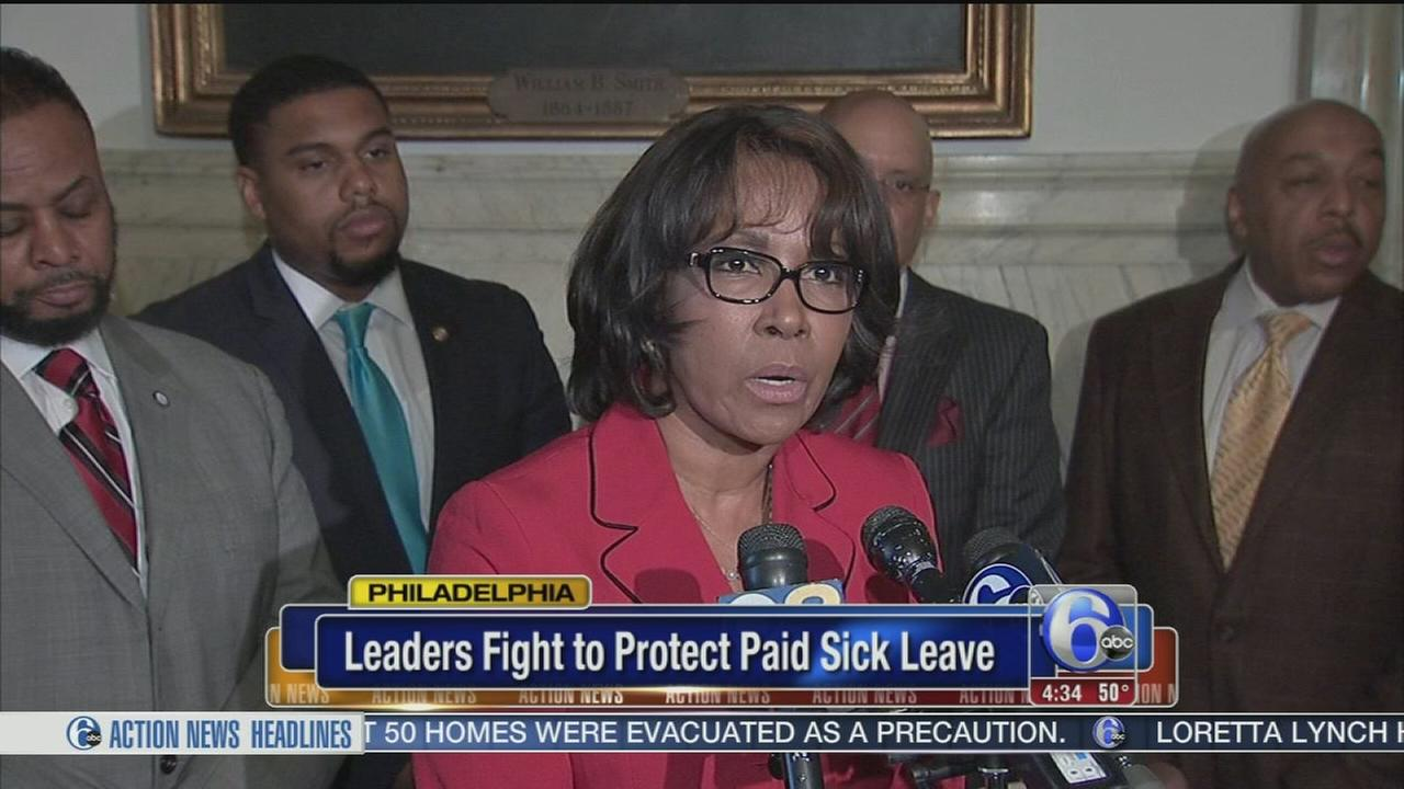 VIDEO: Leaders fight for paid sick leave