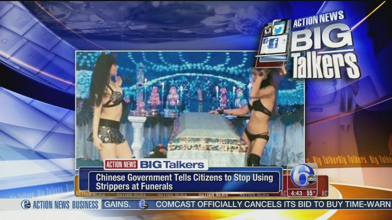 VIDEO: Chinese funeral strippers