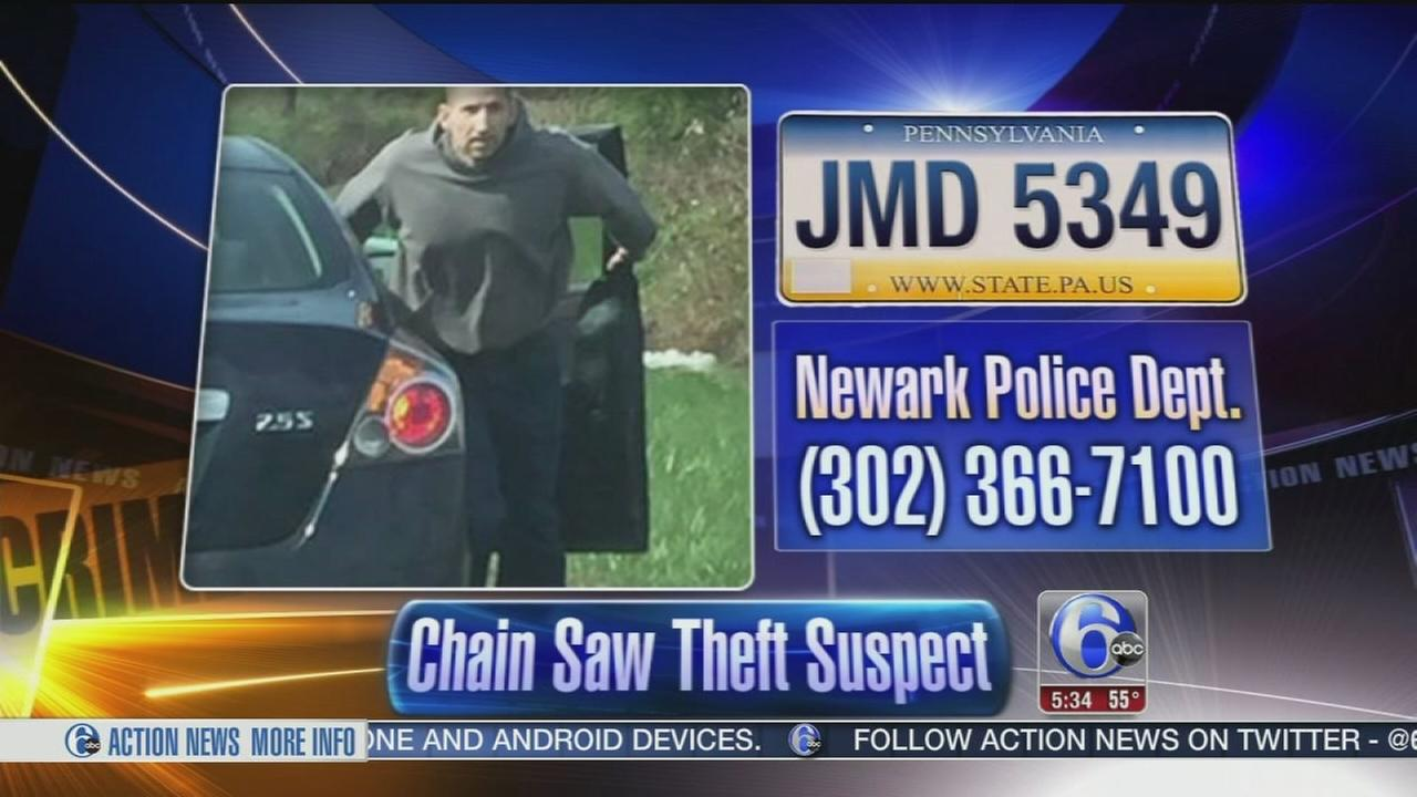 VIDEO: Chain saw theft suspect cought